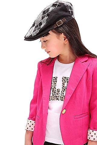 Fille Enfant veston Manches Longues Chemise (2-3 années, pink)