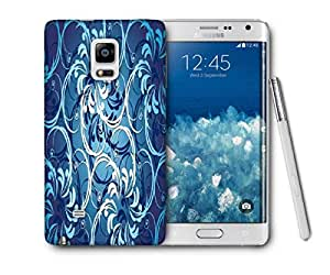 Snoogg Abstract Blue Pattern Printed Protective Phone Back Case Cover For Samsung Galaxy NOTE EDGE