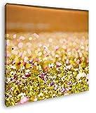 deyoli entzückende Blumenwiese Format: 70x70 Effekt: Zeichnung als Leinwandbild, Motiv fertig gerahmt auf Echtholzrahmen, Hochwertiger Digitaldruck mit Rahmen, Kein Poster oder Plakat