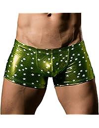Tenchif Ragas Clubwear Boxer Bikini Metálico para Hombres AQgYPl8