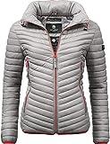 Navahoo Damen Stepp-Jacke Übergangsjacke Pari Grau Gr. XL
