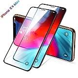 """[Lot de 2] Verre Trempé pour iPhone XS Max, Protection écran iPhone XS Max, Protection Face ID, 3D Touch Compatible [Dureté 9H Anti-Rayures] Écran Protecteur pour iPhone XS Max 6.5"""" [Garantie à Vie]"""