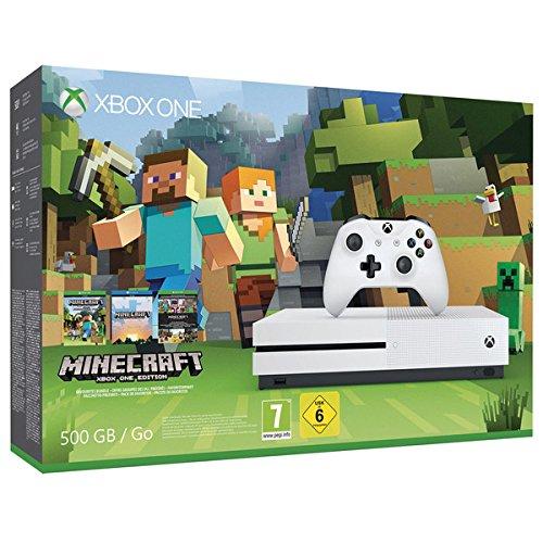 Microsoft Xbox One S 500GB - Minecraft - Xbox 1 Minecraft