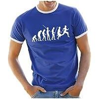 Coole-Fun-T-Shirts Herren T-Shirt LAUFEN Joggen Evolution ! RINGER