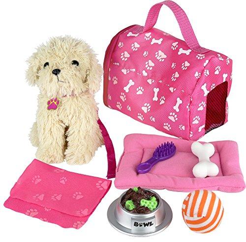 Click n' Play 9Stück Puppe Puppy Set und Zubehör. Perfekt für 45,7cm American Girl Dolls