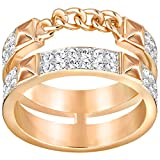 Swarovski Damen-Ring Edelstahl Kristall transparent Rundschliff 5231912