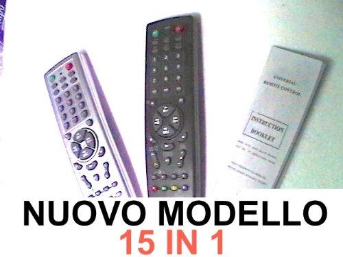 Telecomando Universale innovativo e di facile uso: Puo' Sostituire Telecomandi: TV, Aux, VCR, LD, CABLE, HIFI, CD, AMP, SAT, SKY, DVD, AC