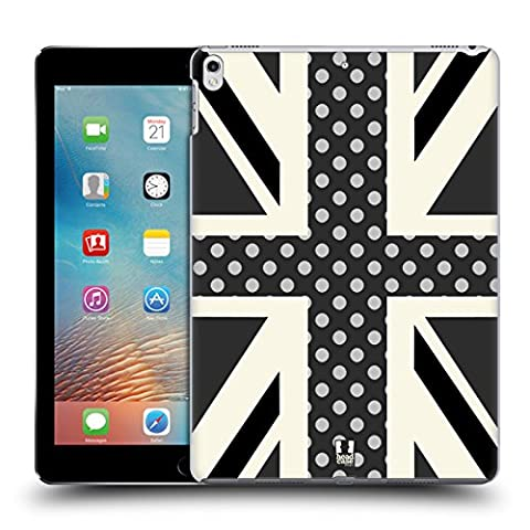Head Case Designs Onyx Polka Dots Union Jack Collection Hard Back Case for Apple iPad Pro 2 10.5 (2017)