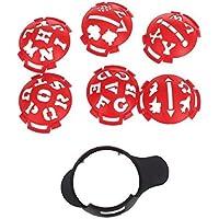 1x pelota de golf Marcador Base con diferentes Plantillas–-- rojo y negro