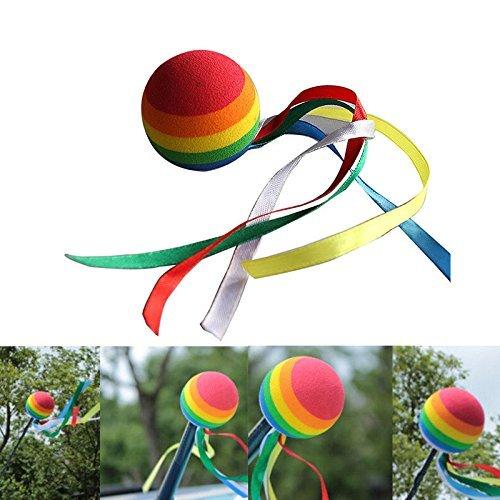 WEILIVE Eva Dekorative Topper Bälle Automobil Auto Antenne Topper Rainbow Ball Antenne Topper