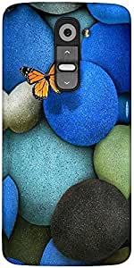 Snoogg Lonely Butterfly Designer Protective Back Case Cover For LG G2