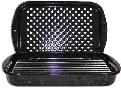 Columbian Home Products 3Pc Broiler Pan/Rack 0513-2 Cookware Ceramic On Steel Open Stock by Columbian Home -