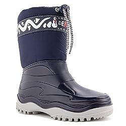 demar. Kinder Winterstiefel Schuhe gefüttert FROST, Blau, 24/25 EU
