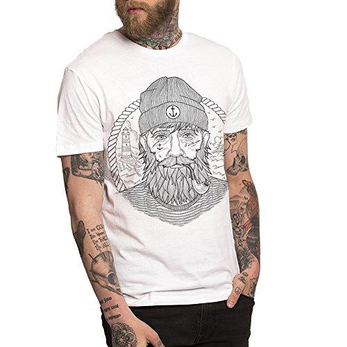 Viento Real Captain Herren T-Shirt (L, Weiß)