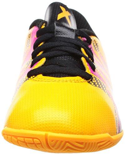 adidas X 15.4 In, Scarpe da Calcio Bambino Multicolore (Solar Gold/Core Black/Shock Pink)