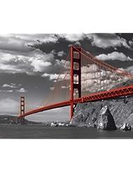 Empire 335920 - Mini póster de puente Golden Gate de San Francisco (50 x 40 cm)