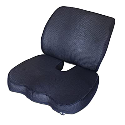 SZsaien Wellness Comfort Travel Foam Back&Seat Cushion Provides Relief for Lower Back Pain Tailbone Coccyx Sciatica Pelvic Pain Prostate-Corrects Postures Naturally Perfectly Sized for Any Chair and Auto Seat produced by SZsaien-004 - quick delivery from