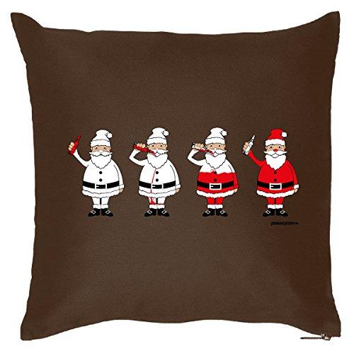 Weihnachtsdeko - Weihnachtsmänner auf Kissen mit Füllung - Couchkissen mit Nikolaus, Sitzkissen, Weihnachtgeschenk