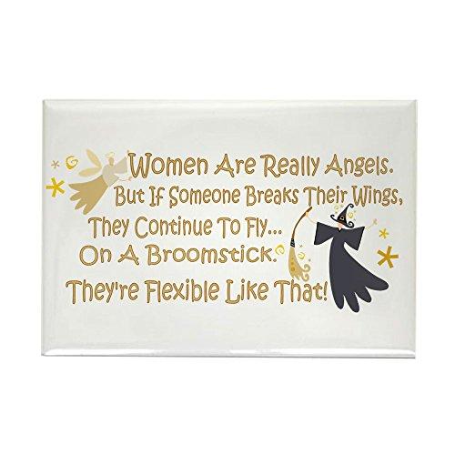 CafePress-Frauen sind wie Engel-Rechteck Magnet, 5,1x 7,6cm Kühlschrank Magnet (Humorvoll Kühlschrank-magnete)