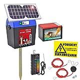 Voss.farming Set: Elettrificatore Extra Power 9V Solar con Pannello Solare ed Accessori