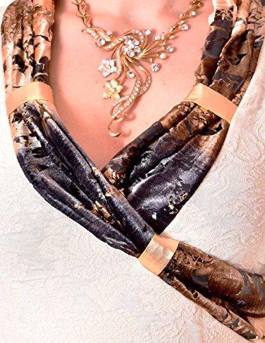 PoshTops Damen Bluse mit Wunderschön Ausschnitt Dehnbares Strukturiertem Material Damenshirt Langarm Größen S