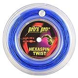 Spro Pro's PRO Hexaspin Twist Corda per Racchetta da Tennis - 200m Bobina - 1.25mm - Blu