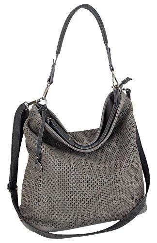 Damen Tasche Schultertasche Große Umhängetasche in 5 Farben Handtasche für Frauen Sommer Design Crossbody (3126) (Grau)