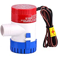 Amazon bilge pumps sports outdoors dhoutdoors 12v submersible bilge water pump marine fishing boats caravan camping small swimming pool fountains electric freerunsca Choice Image
