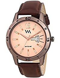 Watch Me Day Date Collection Brown Dial Brown Leather Strap Watch For Men And Boys DDWM-034 DDWM-034rto1