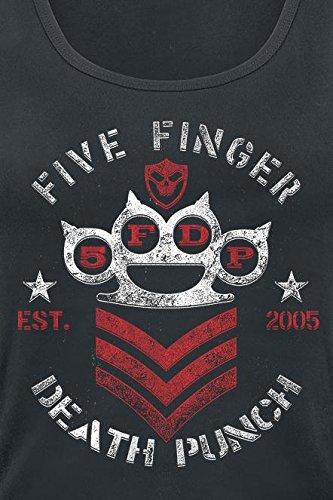 Five Finger Death Punch Chevron Girl-Top schwarz Schwarz