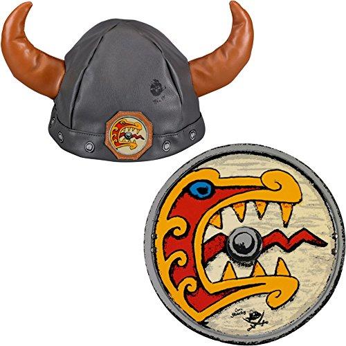 harky 2er Set 11076 11081 Wikingerhelm + Wikingerschild (Viking Schild Kostüm)