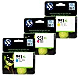 Premium 3er color Pack - Tintenpatronen Kompatibel zu HP 951 XL 951XL CN046A CN047A CN048A Officejet Pro 8600, 8600 Plus, 8100 E-ALL-IN-ONE kompatibel (C,Y,M)