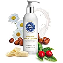 The Moms Co. Natural Calming Body Lotion (200ml) with Organic Chamomile Oil and Organic Jojoba Oil Moisturises and Heals Skin a