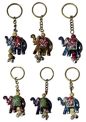 Vintage Elephant Designer Key chain Ring Fashion Set Of 5