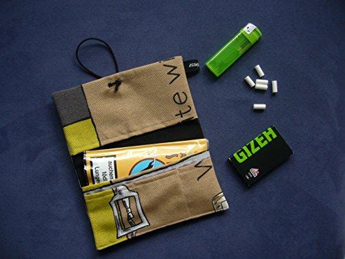 Büroteuse Tabaktasche Drehertasche im Wein-Design, jede Tasche ein Unikat! Ausverkauf! Wine
