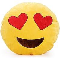 SUNYOU 32cm Emoji Almohada sonriente del Emoticon Cojín relleno de la felpa suave muñeca de juguete de regalo decoración del hogar (amor)