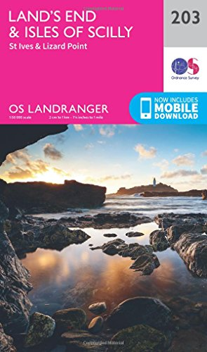 Price comparison product image Landranger (203) Lands End & Isles of Scilly,  St Ives & Lizard Point (OS Landranger Map)