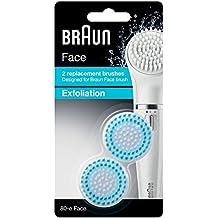 Braun Face 80-e - Cepillo de recambio exfoliante, para la limpieza profunda de los poros