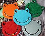 Lovein - Juego de 4 Posavasos de Fieltro para Cocina, Oficina, Naranja, Verde, Rojo, Azul, Gris...