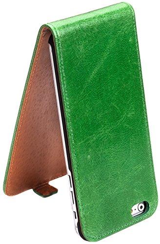 Vert Étui à rabat en cuir véritable pour Apple iPhone 6Plus 14cm iPhone 614cm surazo® Étui à rabat/* * * * * * * * En Cuir Véritable-100% fait main-Fabriqué en UE * * * * * * *