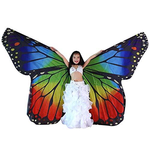 Familie passende Schmetterlingsflügel, Mama & Tochter Flügel, Bauchtanz Isis Flügel, Tanzkostüm Engelsflügel, Halloween Weihnachten Cosplay Kostüm mit Teleskopstielen