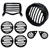 #6: AllExtreme Heavy Headlight Grill Complete , Die casted to ensure Ultra Finishing, Set of 8 Pieces- Royal Enfield Standard