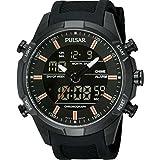 Pulsar PW6007X1 - Reloj para hombres, correa de goma color negro