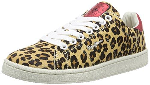 Braun Jeans Pepe Sneakers BROWN London Damen ANIMAL PRINT CLUB 877NUT 6wRqx0