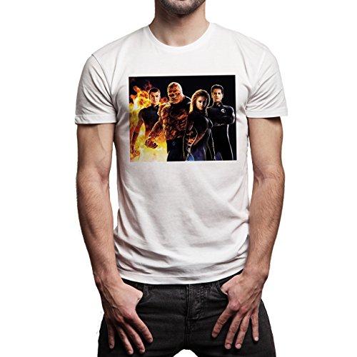 The-Fantastic-Four-Super-Heroes-Team--Background.jpg Herren T-Shirt Weiß