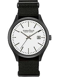 Caravelle New York Hombre Reloj de pulsera analógico cuarzo Nylon 45b142