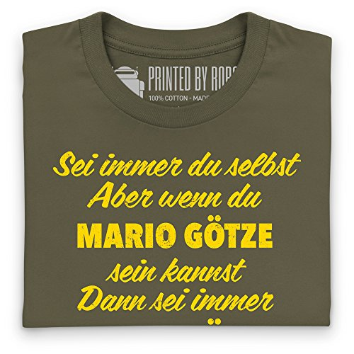 Always Be Mario Gotze German T-shirt, Uomo Verde oliva