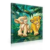 König Der Löwen Simba Nala Leinwand Bilder (PPD2207O1FW) - Wallsticker Warehouse - Size O1 - 100cm x 75cm - 230g/m2 Canvas - 1 Piece