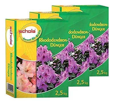 Schola Rhododendrondünger, 3er Pack. (3 x 2,5 KG) von H.Schomaker GmbH Co. KG - Du und dein Garten