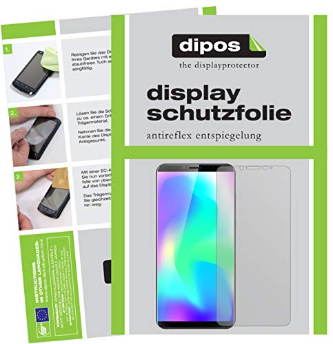 dipos I 4X Schutzfolie matt passend für Cubot X19 Folie Displayschutzfolie (2X Vorderseite + 2X Rückseite)